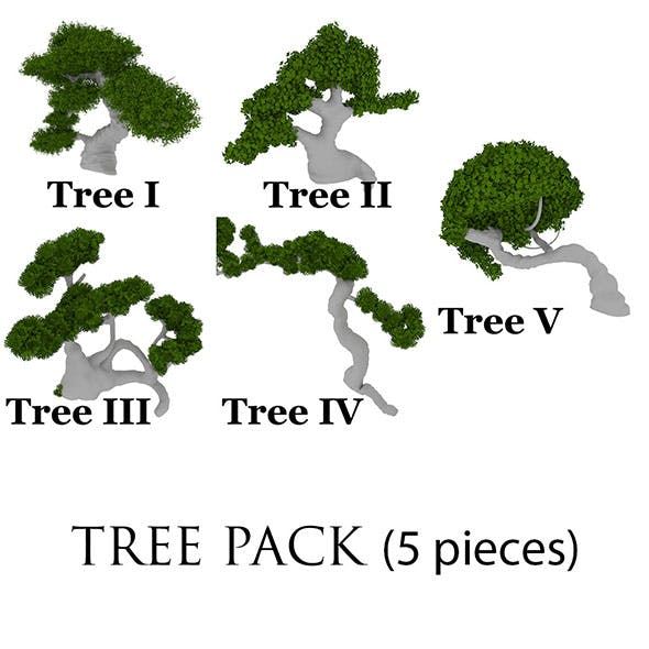 3D Tree Pack - 3DOcean Item for Sale