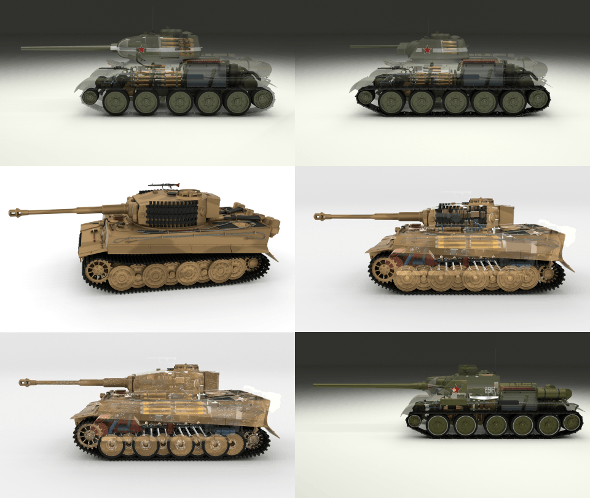Eastern Front Armor Pack with Interior and Engine Bay v2 - 3DOcean Item for Sale