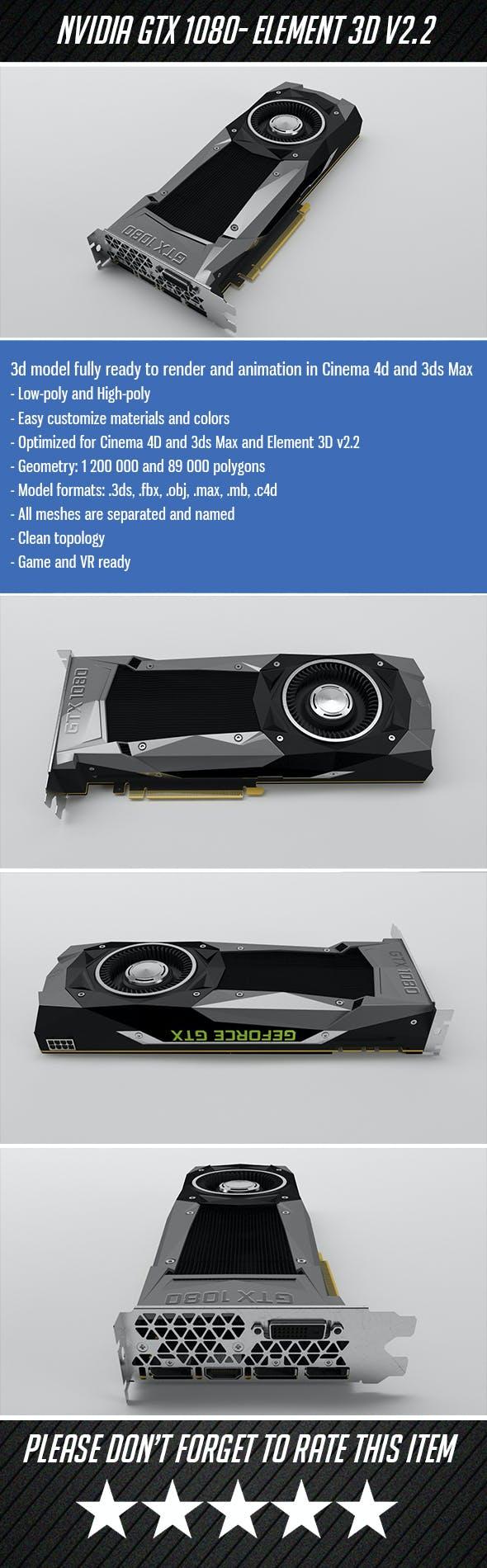 Nvidia GTX1080 - Element 3D - 3DOcean Item for Sale