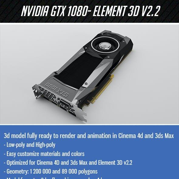 Nvidia GTX1080 - Element 3D