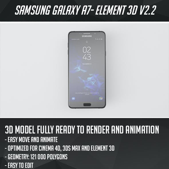 Samsung Galaxy A7 2016 Element 3D