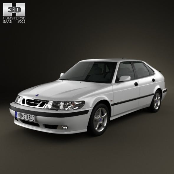 Saab 9-3 Hatchback 5-door 2001 - 3DOcean Item for Sale