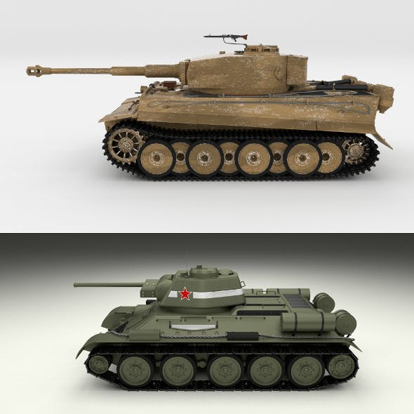 T34-76 Tiger Tank Early Pack