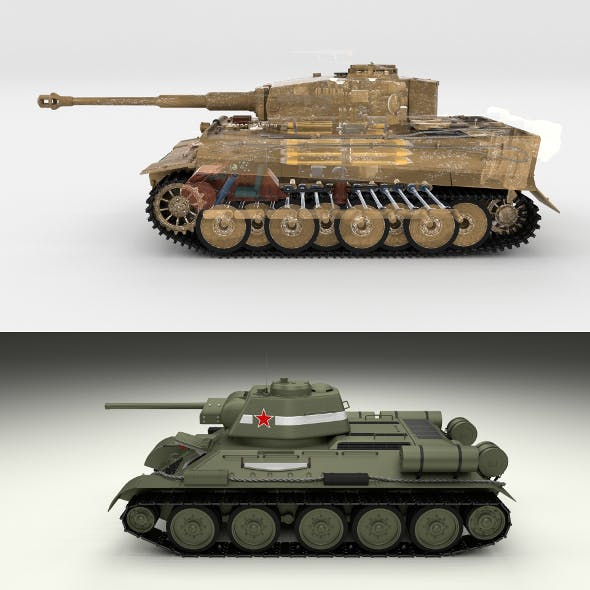 T34-76 Tiger Tank Early Pack with Interior