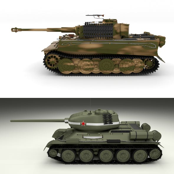 T34-85 Tiger Tank Late Pack