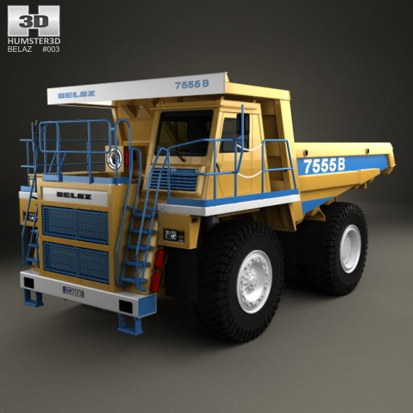 BelAZ 7555B Dump Truck 2016 - 3DOcean Item for Sale