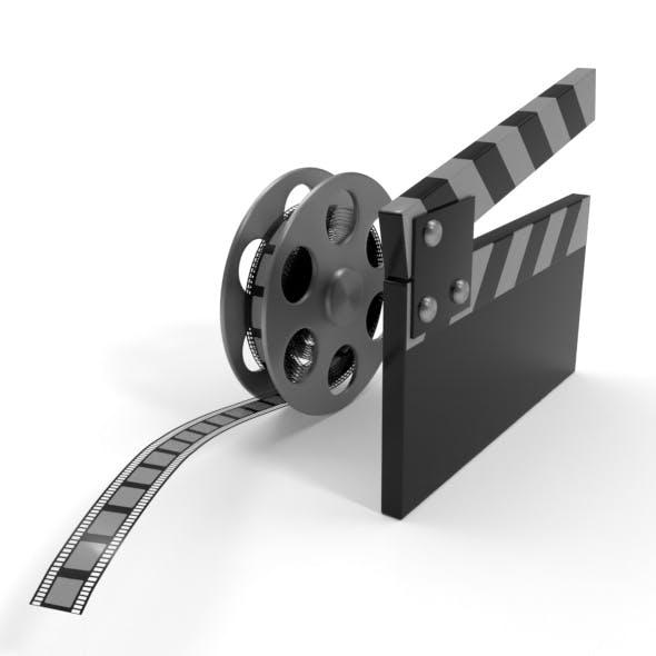 Film Reel and Cap Model - 3DOcean Item for Sale