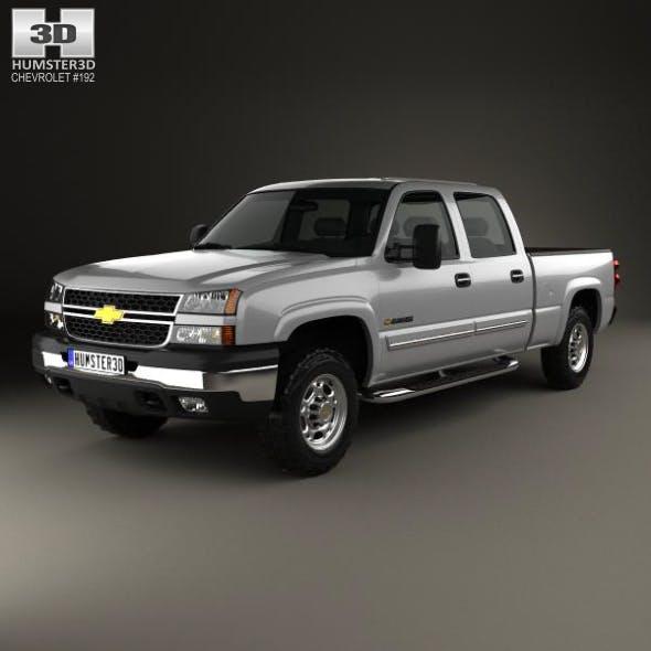 Chevrolet Silverado 2500 Crew Cab Long Bed 2002 - 3DOcean Item for Sale