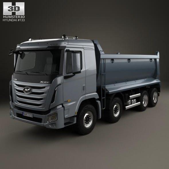 Hyundai Xcient P540 Dump Truck 4-axle 2013 - 3DOcean Item for Sale
