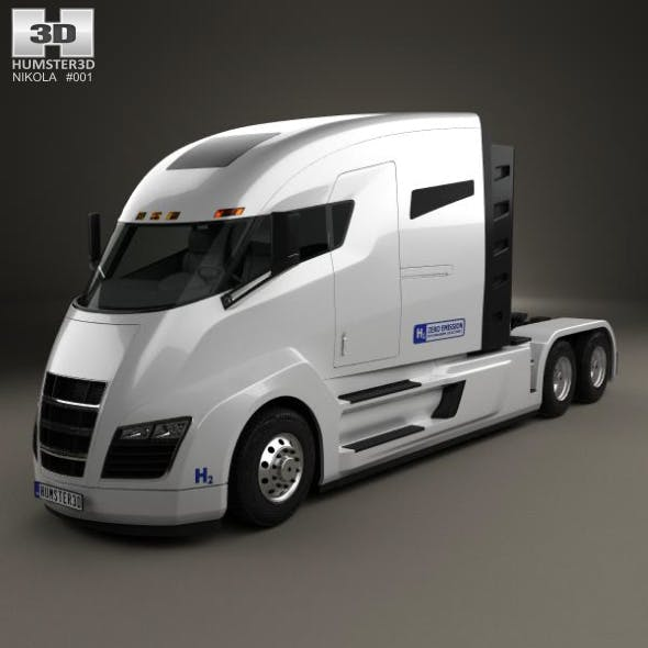 Nikola One Tractor Truck 2016 - 3DOcean Item for Sale