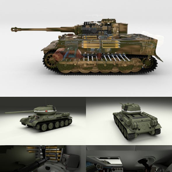 T34-85 Tiger Tank Late Pack with Interior