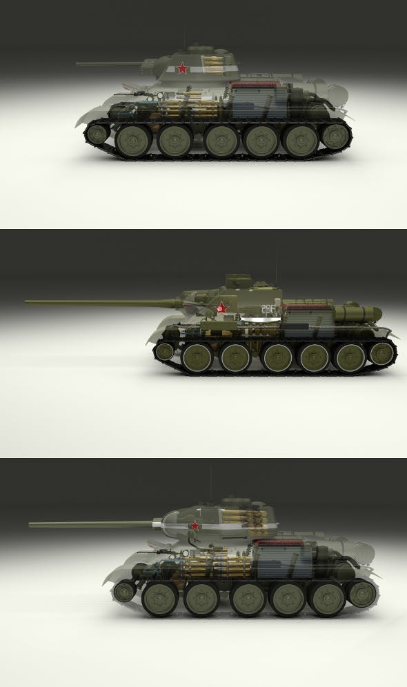 USSR Armor Pack with Interior and Engine Bay - 3DOcean Item for Sale