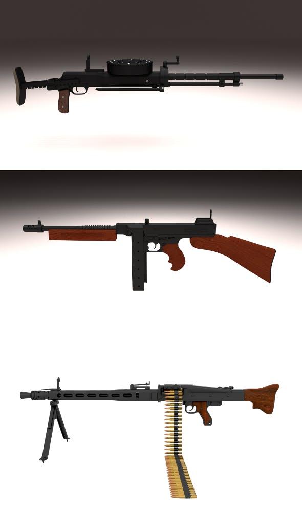 WW2 Machine Gun Pack - 3DOcean Item for Sale