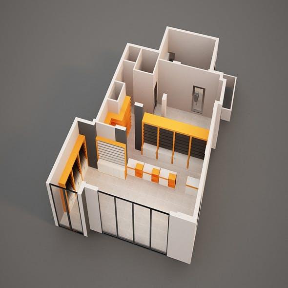 3D Pharmacy Interior Model