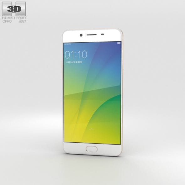 Oppo R9s Gold - 3DOcean Item for Sale