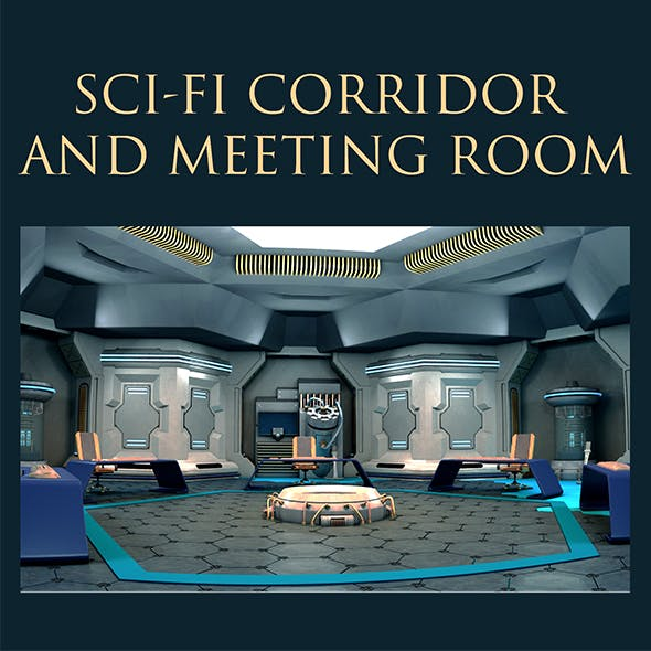 Sci-Fi Corridor and Meeting Room - 3DOcean Item for Sale