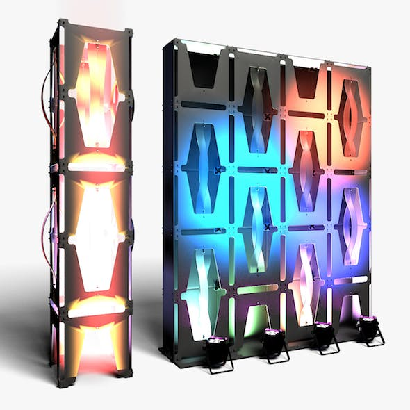 Stage Decor 36 Modular Wall Column - 3DOcean Item for Sale