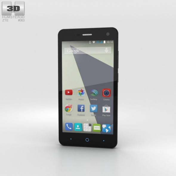 ZTE Blade L3 Black - 3DOcean Item for Sale