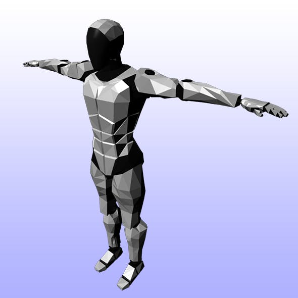 Low Poly Cyborg - 3DOcean Item for Sale