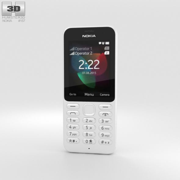 Nokia 222 White - 3DOcean Item for Sale