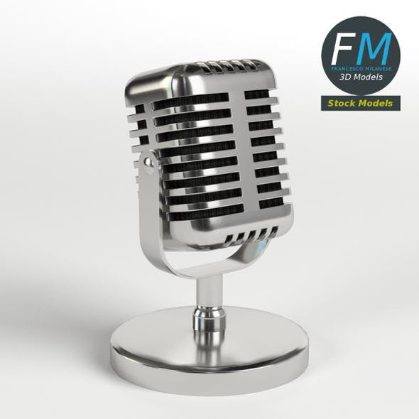 Radio Microphone - 3DOcean Item for Sale