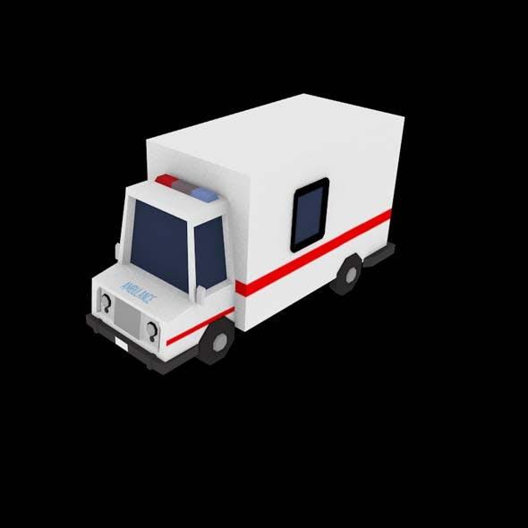 Low Poly Ambulance