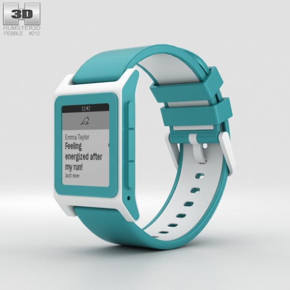 Pebble 2 Aqua / White