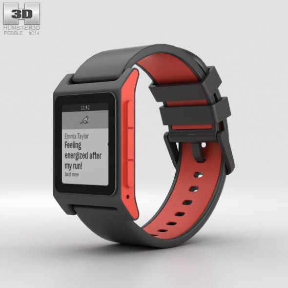 Pebble 2 Charcoal / Flame - 3DOcean Item for Sale
