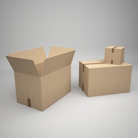 boxes set - 3DOcean Item for Sale
