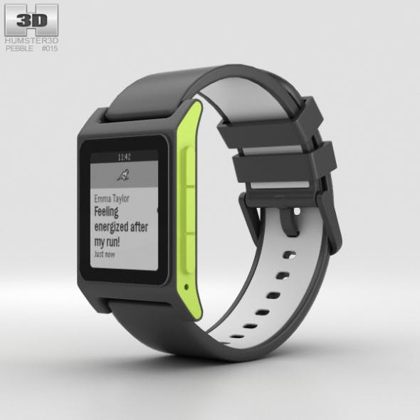 Pebble 2 Charcoal / Lime - 3DOcean Item for Sale
