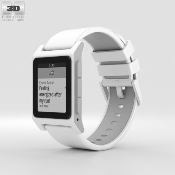 Pebble 2 White - 3DOcean Item for Sale