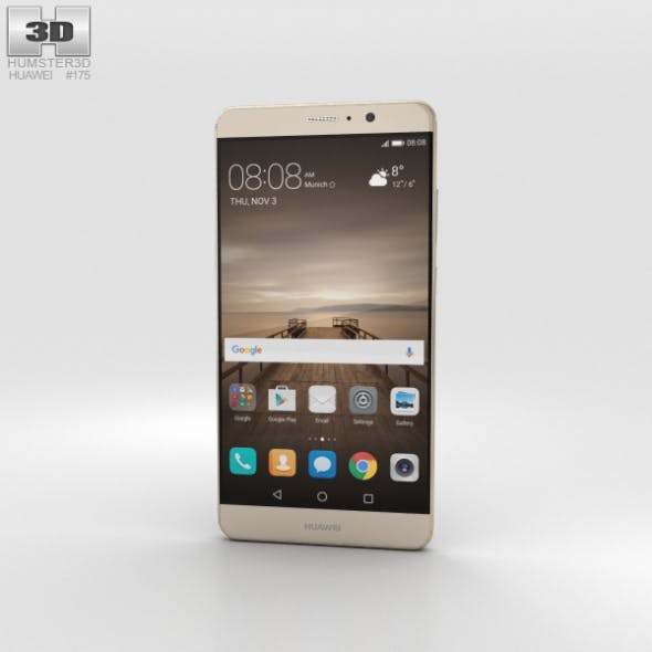 Huawei Mate 9 Champagne Gold - 3DOcean Item for Sale