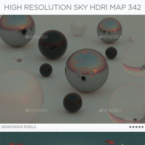 High Resolution Sky HDRi Map 342