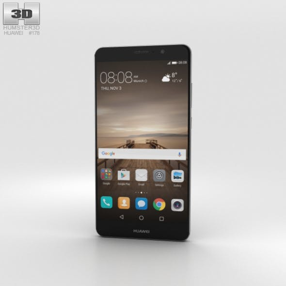 Huawei Mate 9 Space Gray - 3DOcean Item for Sale