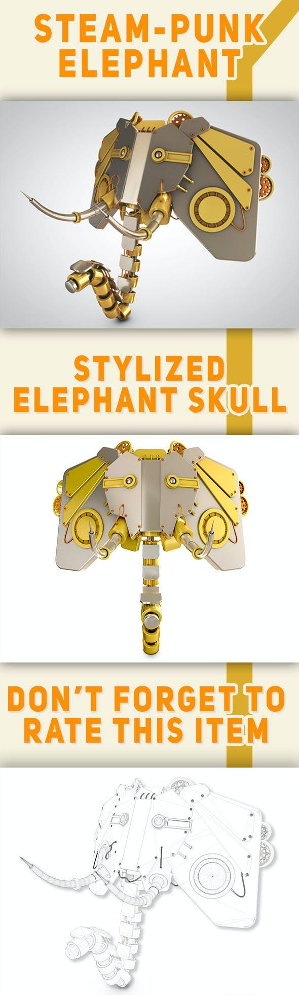 Steampunk elephant - 3DOcean Item for Sale