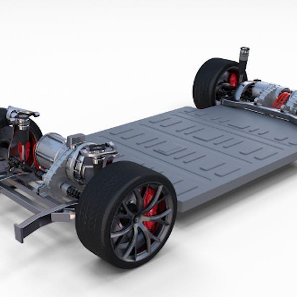Tesla Roadster 3 Motor Chassis