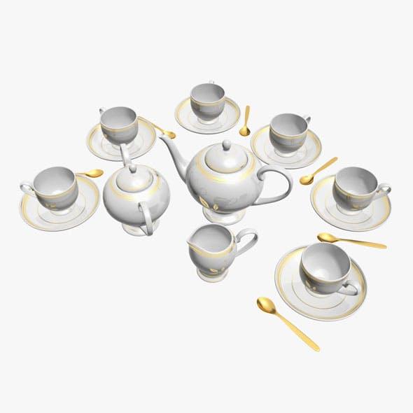 Tea Service - 3DOcean Item for Sale