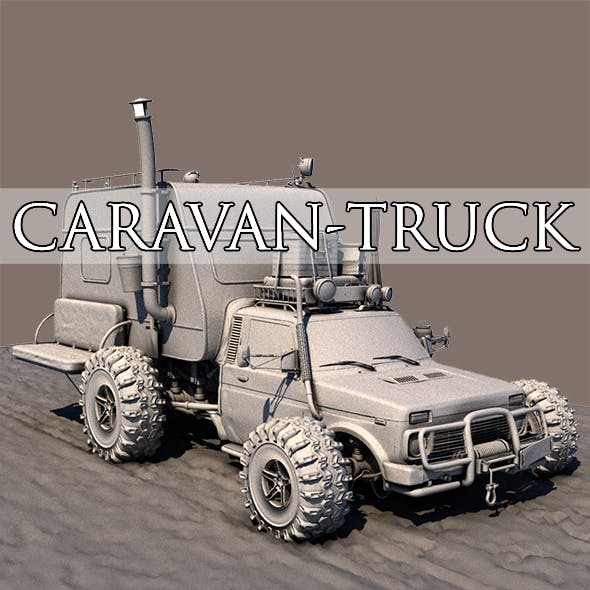Post Apocalyptic Caravan Truck - 3DOcean Item for Sale