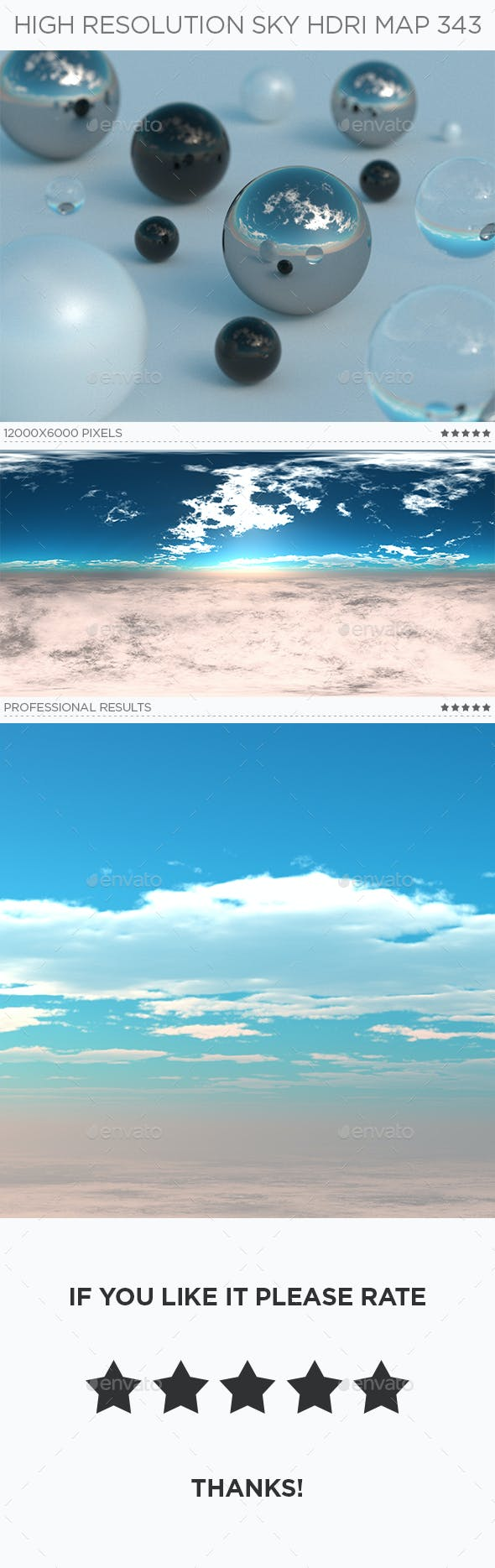 High Resolution Sky HDRi Map 343 - 3DOcean Item for Sale