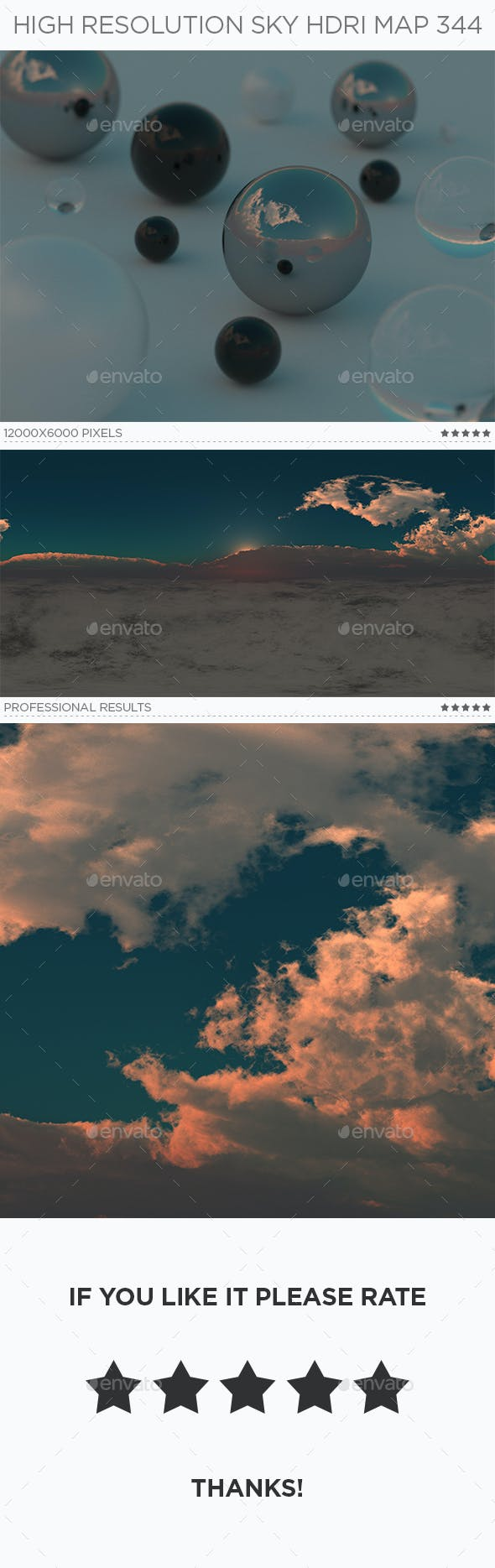 High Resolution Sky HDRi Map 344 - 3DOcean Item for Sale