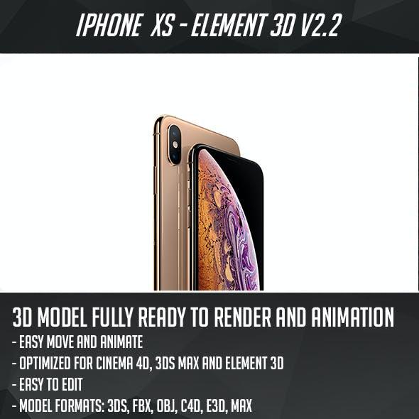 iPhone XS - Element 3D
