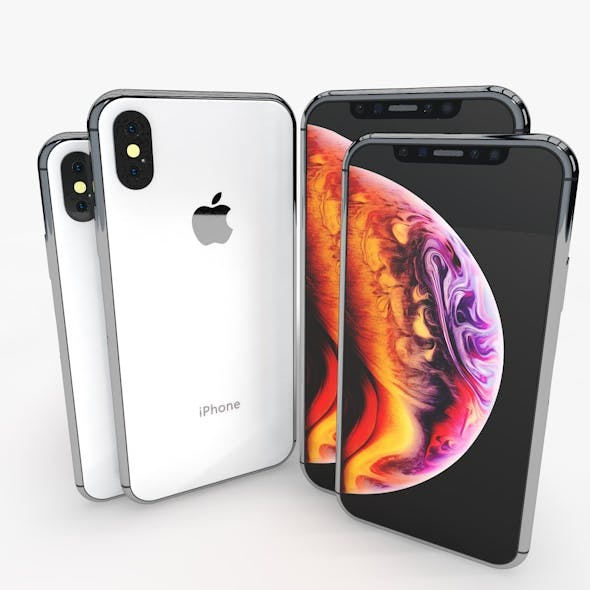 3D Iphone XS and XS Max ELEMENT 3D V2.2 model - 3DOcean Item for Sale
