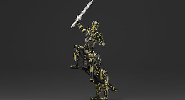Armored Robot character - 3DOcean Item for Sale