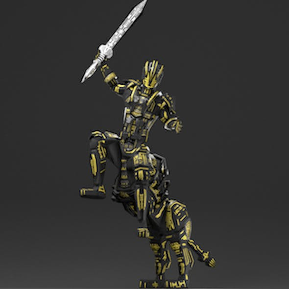 Armored Robot character
