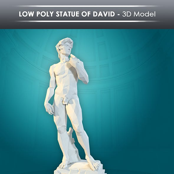 low poly statue of david