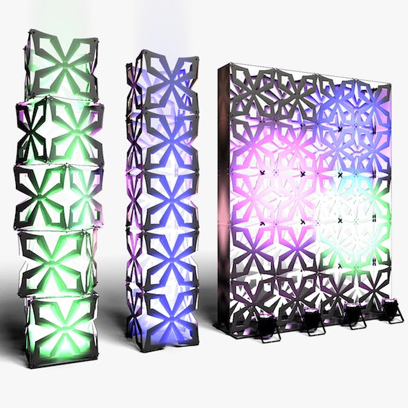 Stage Decor 04 Modular Wall Column