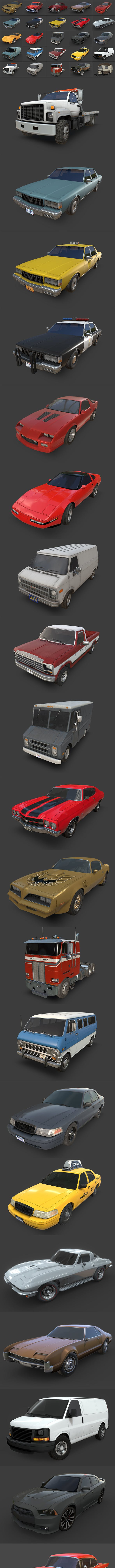 American Cars Ultimate Collection - 3DOcean Item for Sale
