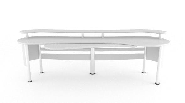 Curvy Sound Desk - 3DOcean Item for Sale