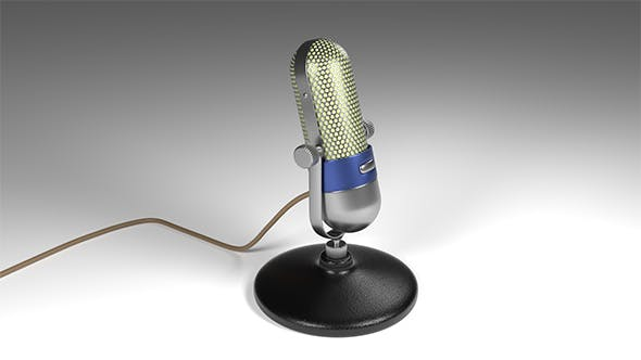 Vintage microphone - retro - 3DOcean Item for Sale