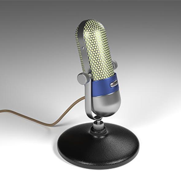 Vintage microphone - retro